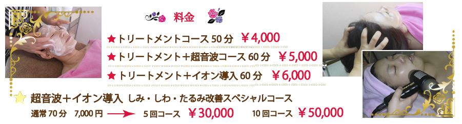トリートメントコース50分4000円